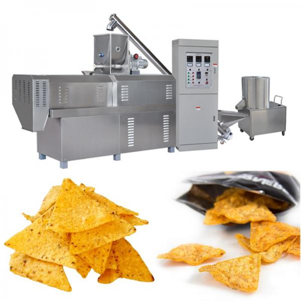 Puffed Corn Doritos Nacho Cheese Tortilla Chips Snacks Frying Machine with Electric Heating #1 image